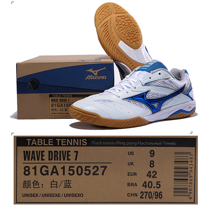 Mizuno Sports Sneakers Men S Wave Drive 7 Table Tennis Ball Shoes Mesh Breathable Cushioning Sport 81ga150527 Yxt002 In From
