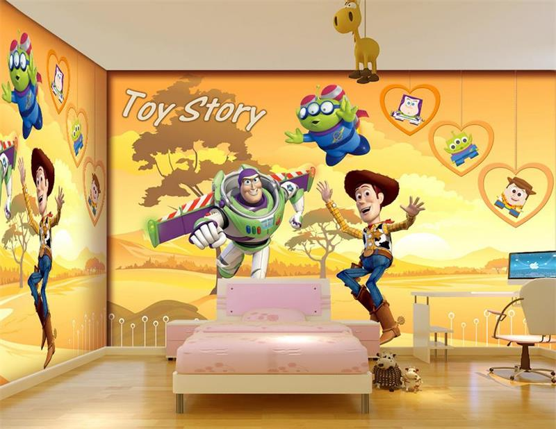 Online get cheap toy story wallpaper for 3d wallpaper for baby room