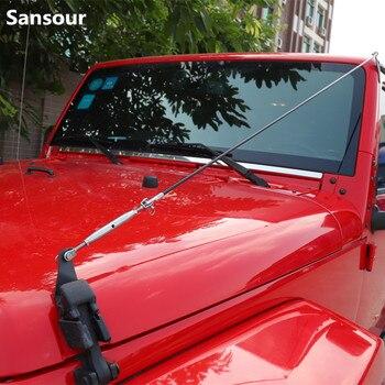 Sansour samochodowe zewnętrzne chronić czarny zamek kaptur zatrzask złap linii oddziału dla Jeep Wrangler JK 2008-2018 samochodów stylizacji