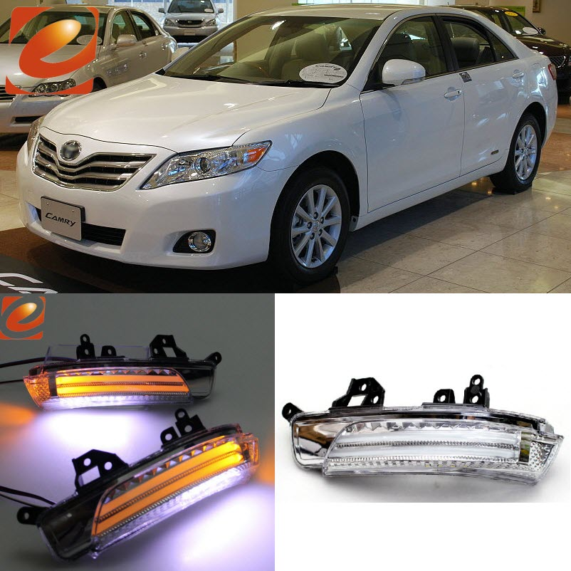 eeMrke For Toyota Camry ACV4 Side Rear View Mirror Lights LED DRL Turn Signals Irradiated Ground Lights стоимость