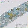 Natural Precious Stone Aquamarine Polished Nugget Loose Beads 6~12mm