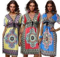 Comércio europeu e Americano do single-sexy vestido de Decote Em V tamanho grande vestido de seda leite atacado Resort de Praia
