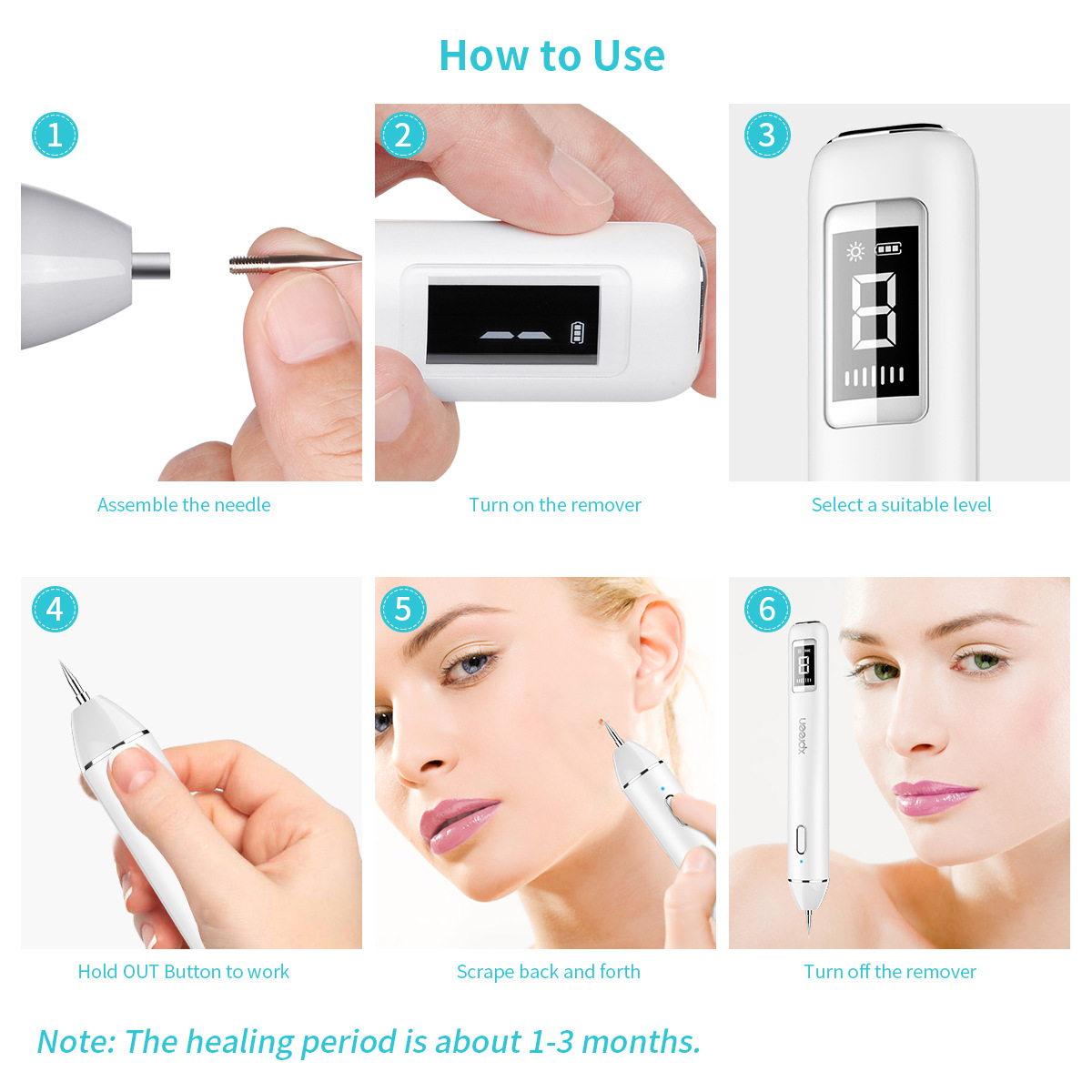Image 5 - Plasma Pen LCD Laser Plasma Pen machine Mole Tattoo Remover Machine Skin Tag Removal Spot Cleaner-in Face Skin Care Tools from Beauty & Health