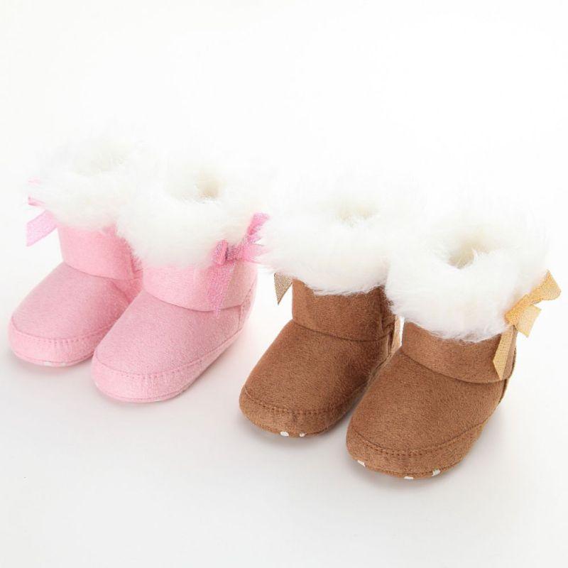 ∞Invierno Bebé Niñas Botas de nieve recién nacido bebé Niñas ...