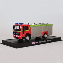 1:64 Amercom VOLVO Major Rescue FL 614 Uk 2000 Fire Truck Diecast Models Toys Cars