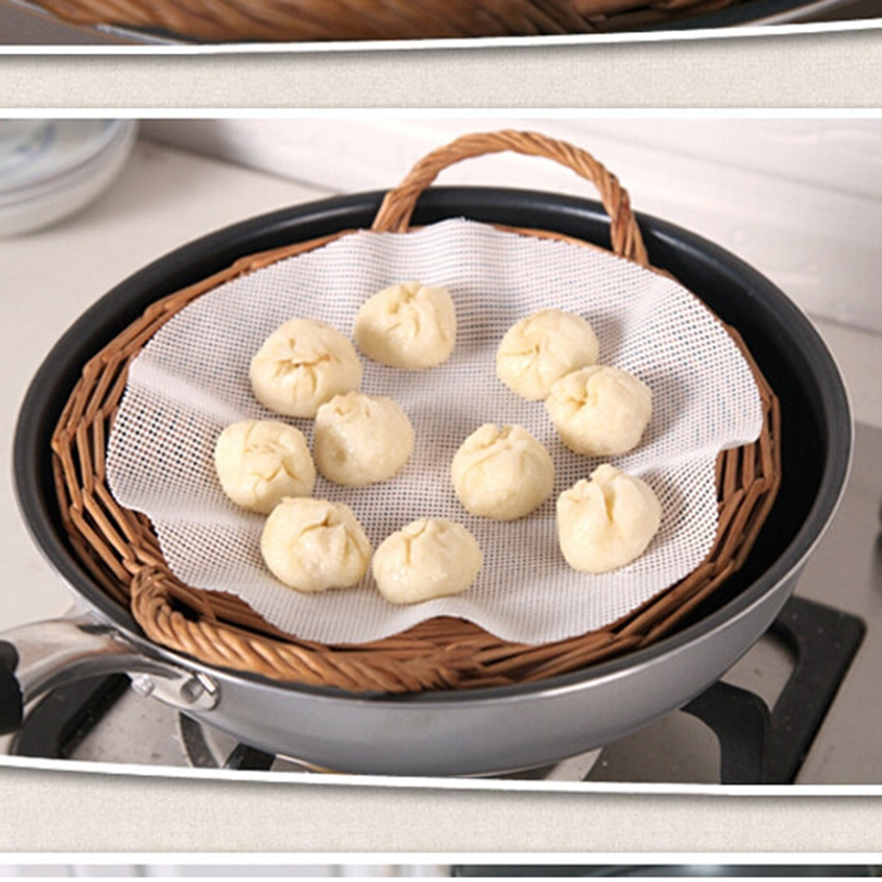 25cm New Arrival Round Silicone Eco-friendly Steamer Pad Steamed Stuffed Bun Bread Pad Household Steamer Steamed Dumplings Mat