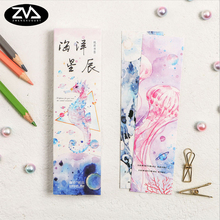 30pcs/box kawaii Oceans and stars paper bookmark Korean cute bookmarks book holder message card school supplies papelaria