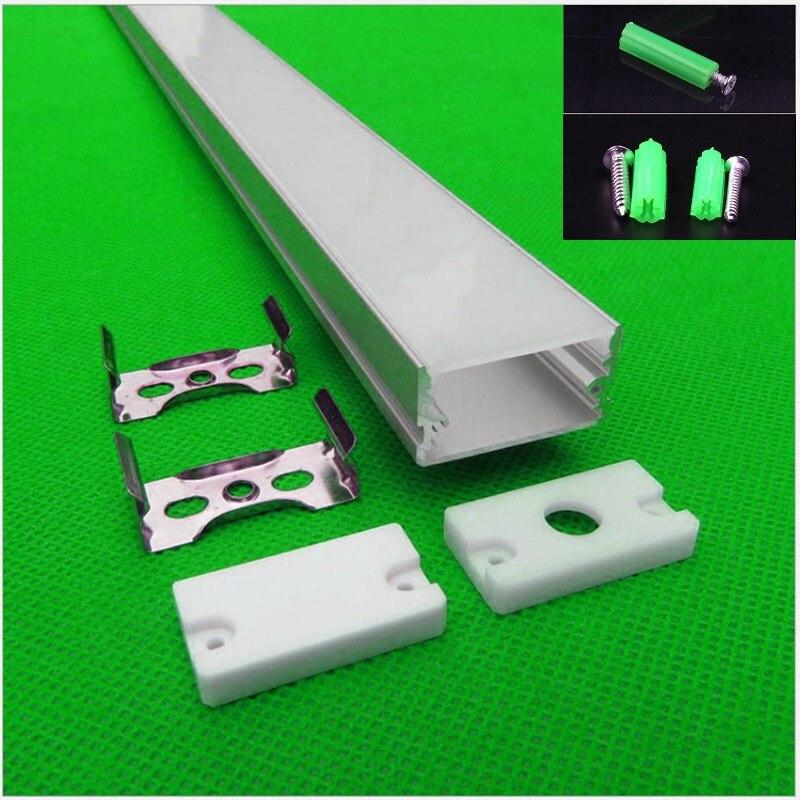 10-30 pcs/lot 80 pouces 2 m longue W30 * H16mm ultra mince led profil en aluminium pour double rangée 27mm led bande, linéaire bar boîtier de la lumière