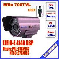 Security 1 3 Sony Effio CCD 700TVL OSD Menu 48 LED Outdoor Indoor Mini Bullet Camera