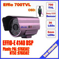 "Security 1/3"" Sony Effio CCD 700TVL OSD menu 48 LED outdoor/indoor mini bullet camera IR 30m CCTV camera C567H"