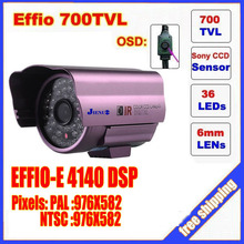 Security 1/3″ Sony Effio CCD 700TVL OSD menu 48 LED outdoor/indoor mini bullet camera IR 30m CCTV camera C567H