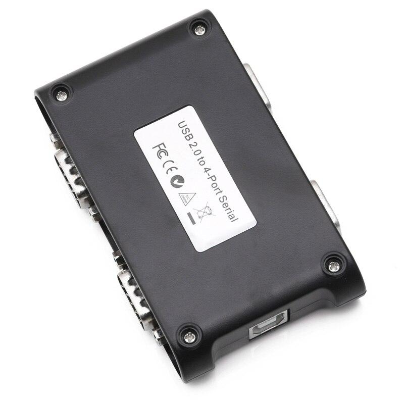 Image 4 - 9pin RS232 USB 2,0 до 4 портов Серийный DB9 COM разъемы контроллера адаптер концентратор