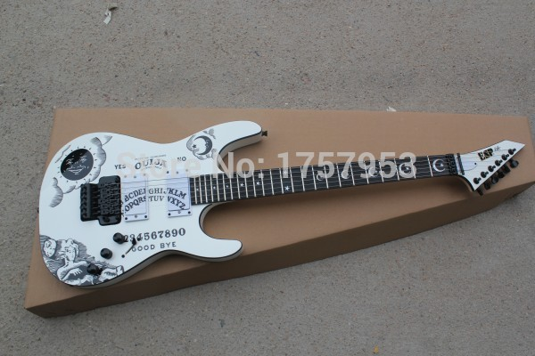 Factory custom shop 2017 Newest Custom white E S P KH-2 Kirk Hammett Ouija white electric guitar Free shipping (hai 4