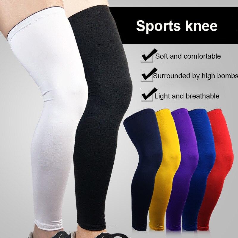 Leg Sleeves Cover Sun UV Block Knee Pads Guard Protector Bike Running Basketball