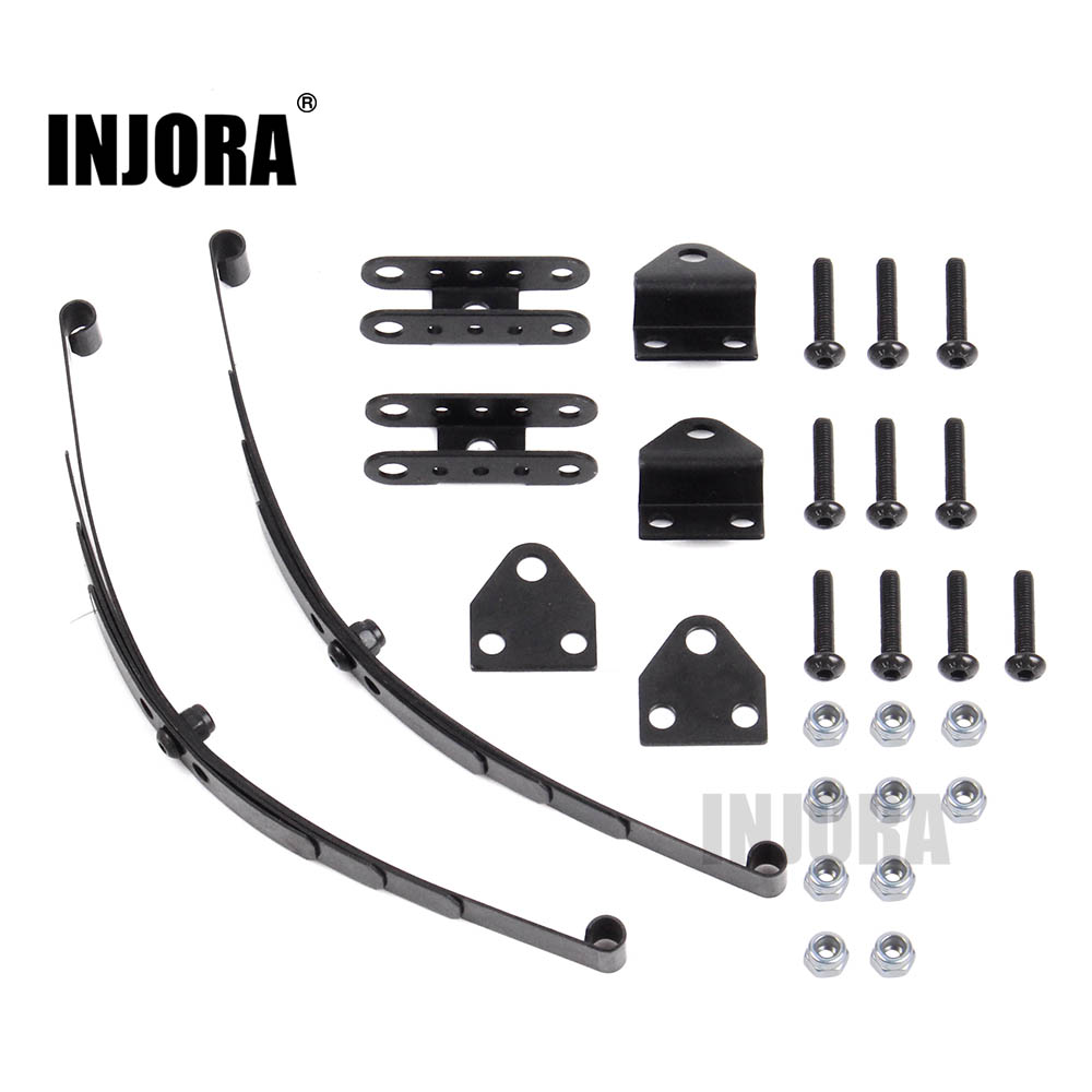 INJORA Hard Leaf Spring Suspension Steel Bar For 1:10 RC Rock Crawler D90 TF2 Axial SCX10 F350