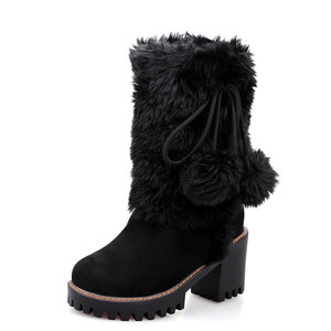 Image 2 - MORAZORA 2020 New arivalฤดูหนาวWARM Snowรองเท้าผู้หญิงรอบToeข้อเท้ารองเท้าfaux FURสบายรองเท้าสุภาพสตรีbooties