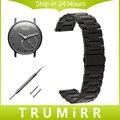 18mm Faixa de Relógio de Aço Inoxidável Alça de Liberação Rápida para o Withings Activite/Aço/Pop Link Pulseira Cinto de Ouro Negro prata