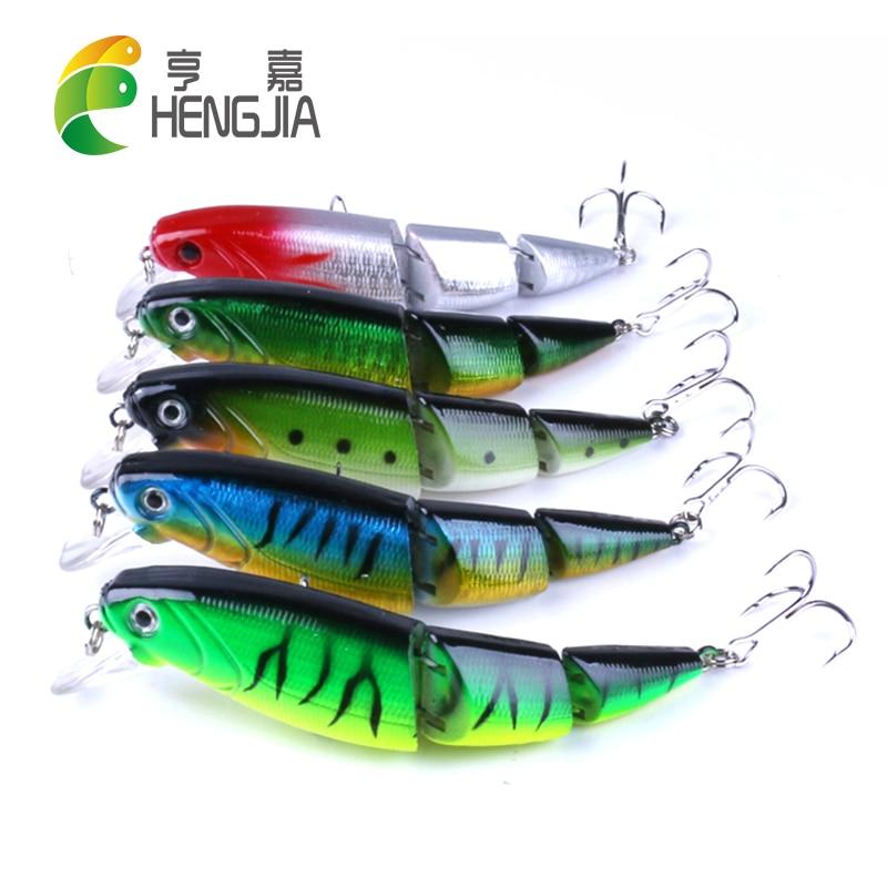 HENGJIA 10.5 cm 14 g de plástico duro articulado señuelos de pesca - Pescando