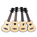 KAKA 17 Inch 12 Fret MINI Spruce Wood Ukulele 4 Strings Carbon Fiber & Rosewood Acoustic Guitars Ukelele Musical Instrument+Bag
