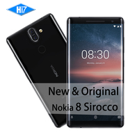 New Original Nokia 8 Sirocco 128G ROM 6G RAM 3 Camera Octa Core Support Wireless Fast Charger 3260mAh 13MP Android Mobile Phone