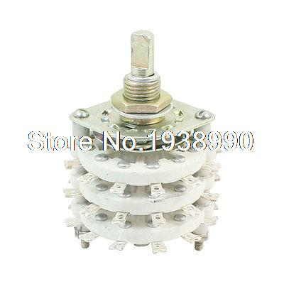 6mm Dia Shaft 3P6T 3 Decks Band Channel Rotary Switch Selector uxcell kcx2 6 10mm mounting hole dia 2p6t 2 pole 5 way two decks 14pin band channael rotary switch selector