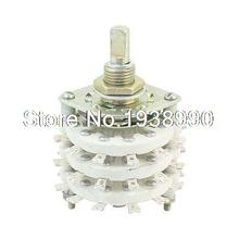 6mm Dia Shaft 3P6T 3 Decks Band Channel Rotary Switch Selector
