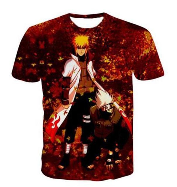 Anime Naruto Funny Short Sleeves 3D Print T-Shirt