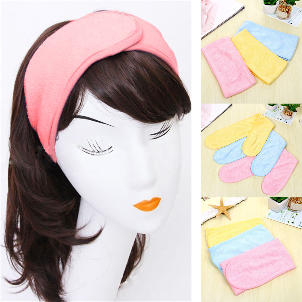 Headbands Women Pink 2019 Headband Pregnant Headband Spa Bath Shower Make Up Wash Face Cosmetic Hair Band -30 fishtail braid with hair accessory