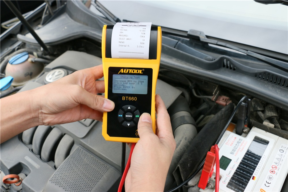 Image 5 - AUTOOL Car Battery Tester Analyzer With Printer 12V Digital Repair Workshop Auto Battery CCA Portable Diagnosis Tool Free Paper-in Battery Measurement Units from Automobiles & Motorcycles on