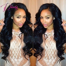 Unprocessed Natural Color Loose Wave Full Lace Human Hair Wig & Lace Front Wig With Baby Hair For Black Women