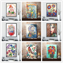 5D DIY diamond painting cartoon animal character flower special cross stitch home decoration