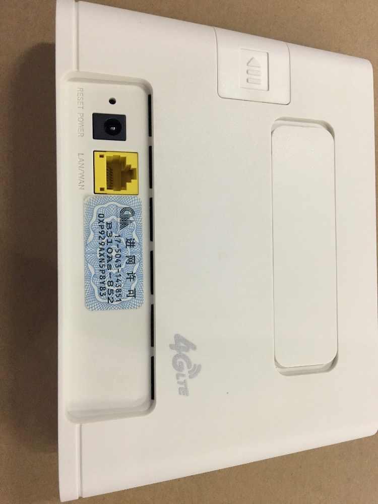 مقفلة هواوي b310 هوائي خارجي B310As-852 4g lte جهاز توجيه ببطاقة sim فتحة مع هوائي في الهواء الطلق راوتر 4g sim المحمولة