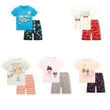 Купить с кэшбэком Kids Boys Sleepwear Aircraft Pajamas Child Animal Summer Pijamas Children Homwear Pajamas for Boy Pyjamas Kids Nightwear