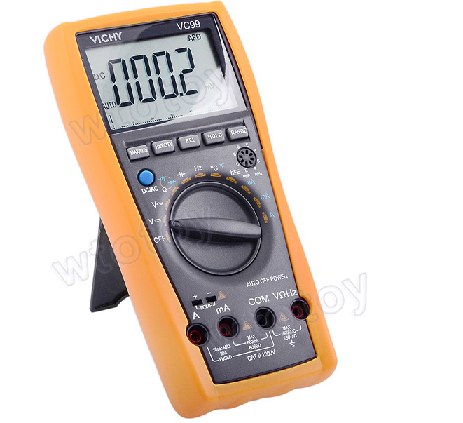 Original VC99 3 6/7 Auto range digital multimeter have bag better FLUKE 17B vc99 auto range 3 6 7 digital multimeter 20a resistance capacitance meter voltmeter ammeter alligator probe thermal couple tk