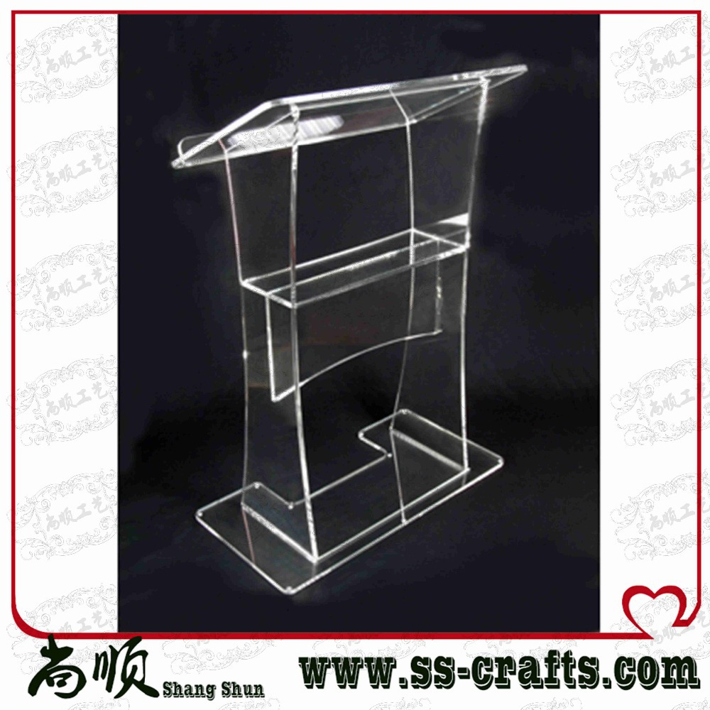 Made In China Acrylic Desk Lectern, Modern Design Acrylic Lectern Plexiglass