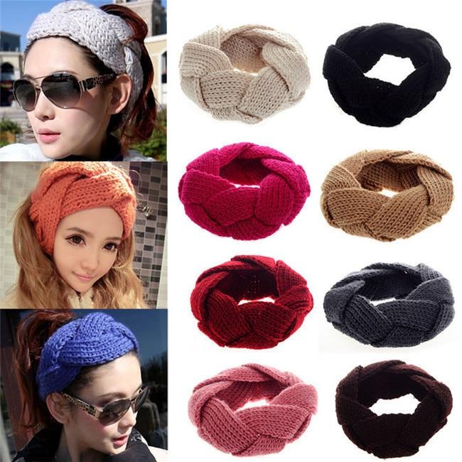 Bigsweety New Fashion Winter Warm Knitted Hats Women Hair Band Crochet Twist Knit Headwrap   Skullies     Beanies   Female