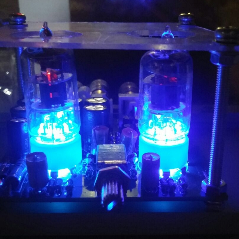 Новый Лихорадка 6J1 Tube Предусилитель Усилитель Доска предусилителя Усилитель Для Наушников 6J1 Клапан Предусилитель Желчи Буфера Diy Комплекты
