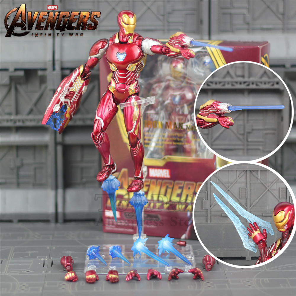 "Marvel 6"" Iron Man MK50 MK85 Action Figure Ironman Nano Mark 50 85 Tony Stark KO's SHF Avengers Endgame Infinity War Toys Doll"