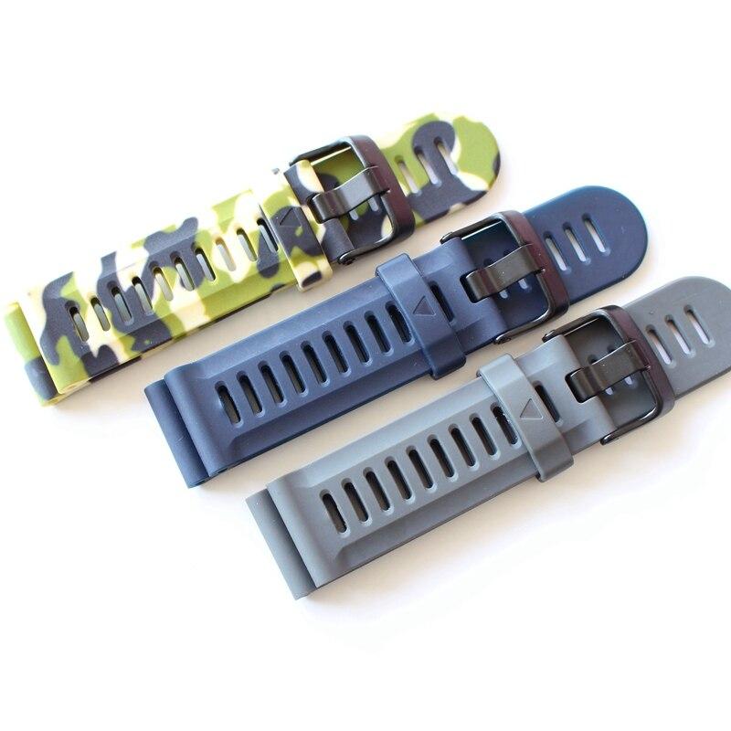 TJP Blue Gray CamouflageAccessories For 26mm Watchband Garmin Fenix 3 Soft Silicone Rubber Strap Replacement Bracelet самокат fenix cms056 blue