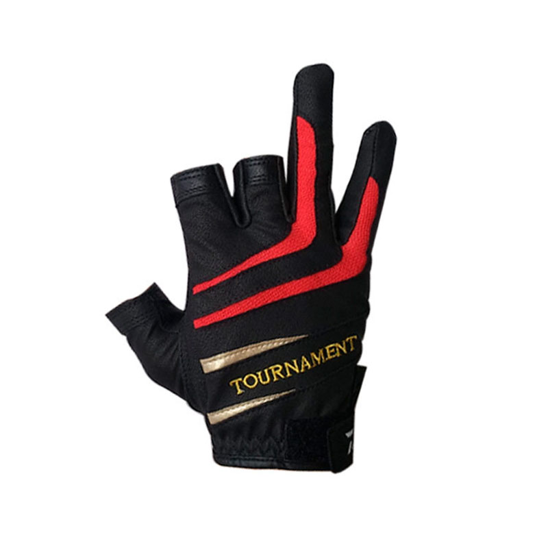 Outdoor Sports Slip-resistant Fishing Gloves 2018 New Summer Top Quality Anti Slip Fishing Gloves Three Five Cut Finger Leathe