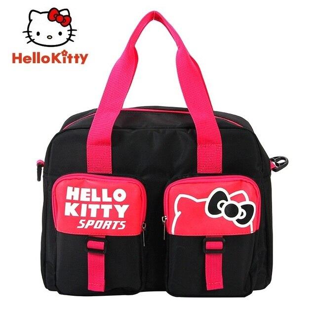 b1f7602005 Hello Kitty Women Sports Backpacks Girl Running Bag New Black Book Bag Cute  Outdoor School HHF64645