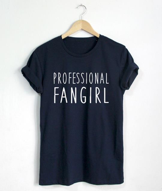 Professionelle Fangirl Letters Druck Frauen T shirt Lustig Baumwolle ...