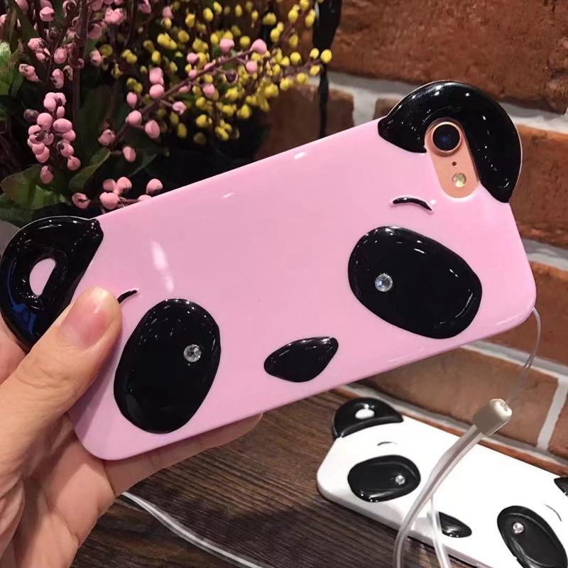 HTB1lO7kRpXXXXXIapXXq6xXFXXXO - Cute Cartoon 3D Chinese Panda Ears & Eyes Transparent Coque TPU Silicone Soft Clear Panda Phone Case For iPhone 6 6S 7 7 Plus PTC 286