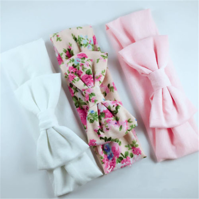 Hot Sale 3 Packs Of Bow Headband Baby Accessories Cute Muti-Color Floral Baby Girls Headband Headwear Comfortable High Quality