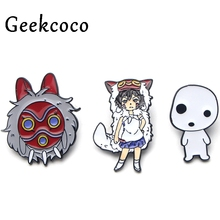 Princess Mononoke cartoon punk Zinc alloy pins badges para shirt bag clothes cap backpack shoes brooches decoration J0133