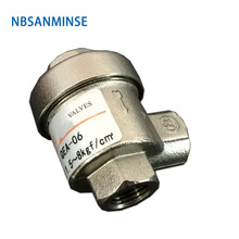 NBSANMINSE  QEA Pneumatic Mechanical Valve Quick Exhaust Brass G1/8 , G1/4 G3/8 G1/2 G3/4 G1Air valve