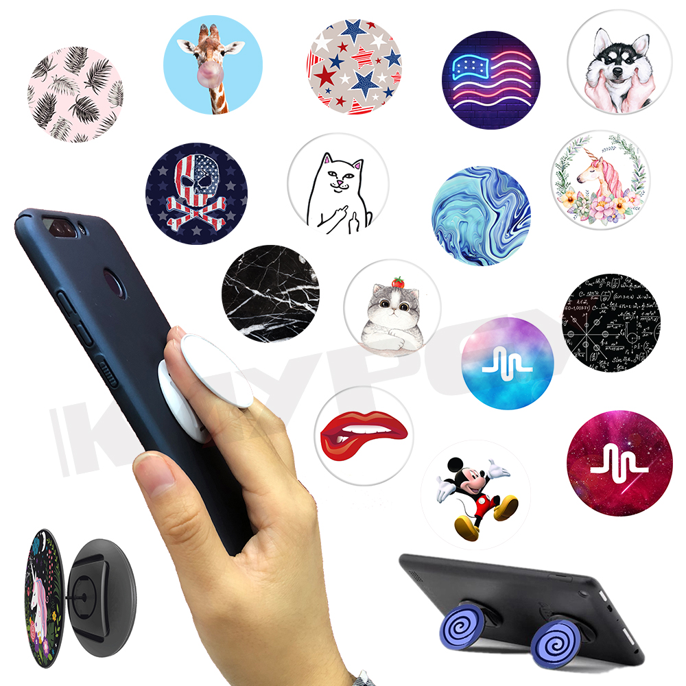 100 Pcs lot Expand Phone Holder Universal Finger Ring Mobile Phone Smartphone Grip Desk Stand Mount