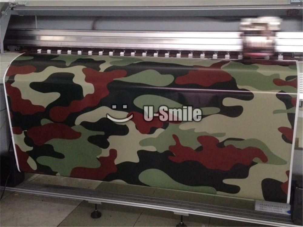 Jumbo Black Red Jungle Camo Vinyl Wrap Jumbo Camouflage Sticker Bomb Film Bubble Free For SUV TRUCK Jeep 30M/Roll