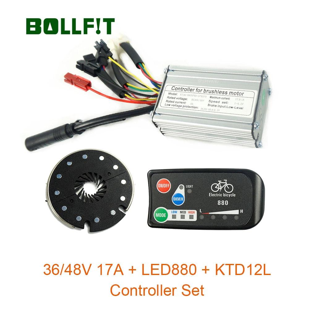 36V46V350W contrôleur étanche 17A LED880 affichage couleur PAS à PAS Kit de Conversion e-bike capteur Hall