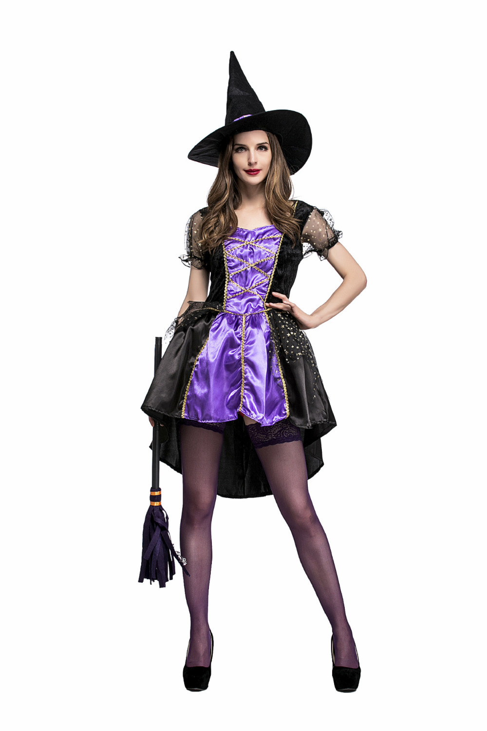 Halloween Sexy Swallow Tail Witch Costumes Adult Women Queen Carnival Party Cosplay Fancy Dress
